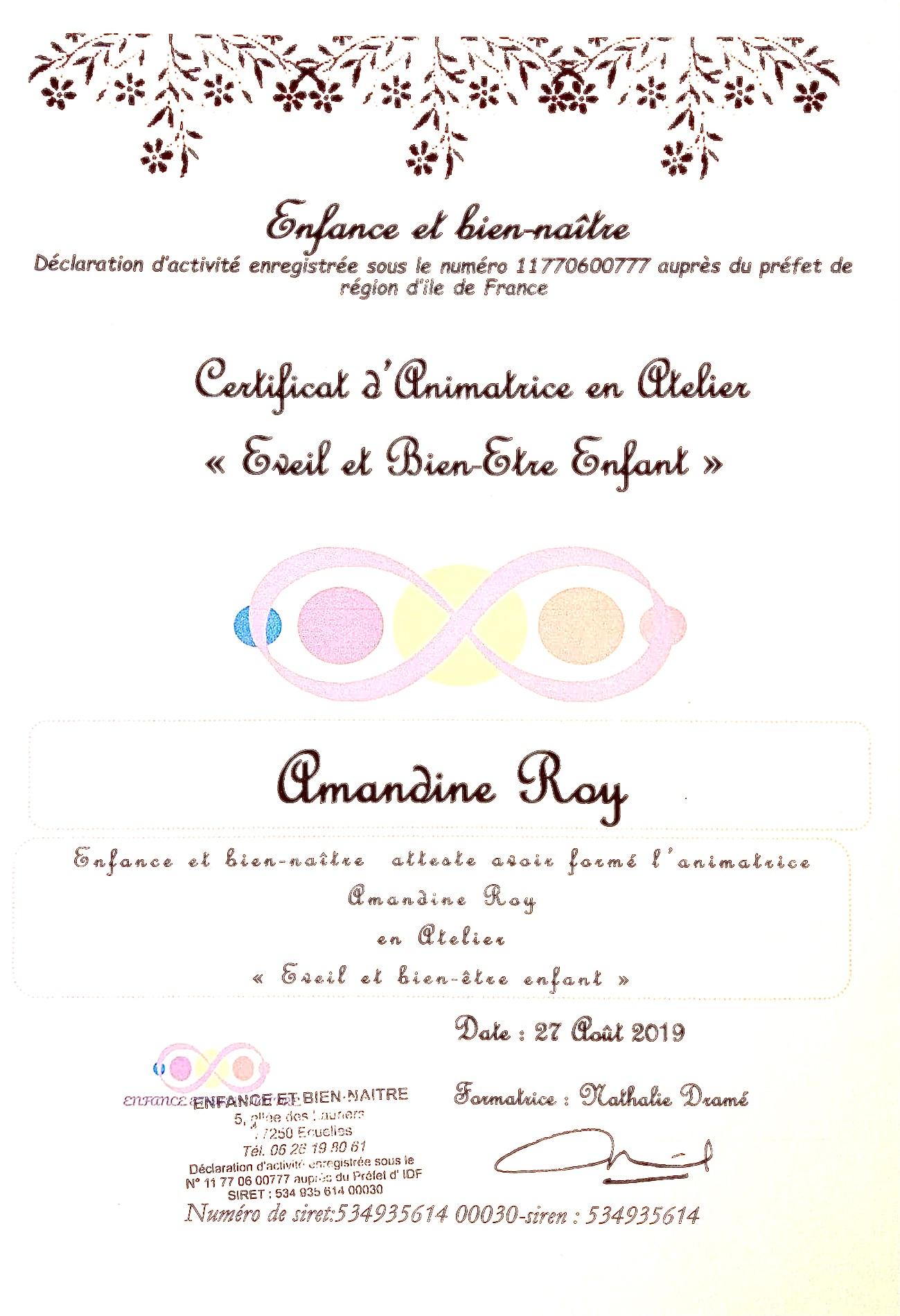 Certificat Enfance et Bien-Naître